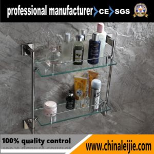 Elegant Stainless Steel Glass Shelf for Bathroom Accessory pictures & photos