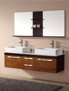 Solid Wood Bathroom Double Basin Cabinet Ca-M131 pictures & photos