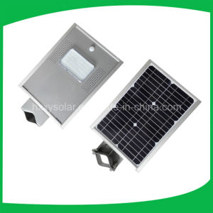 130lm/W 5 Years Warranty 5W 10W All in One Solar LED Street Light with Ce RoHS Approved pictures & photos