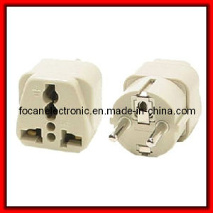 Grounded Universal Plug Adapter Type E/F for Europe (Shucko) pictures & photos
