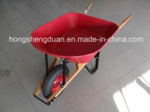Steel Tray Wooden Handle Wheelbarrow pictures & photos