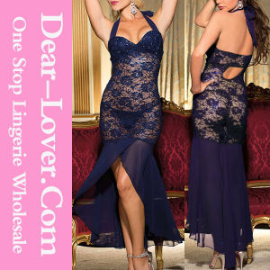 Sexy Blue Lace Nighty Sleepwear pictures & photos