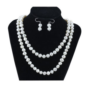 Snh Natural 8mm Baroque Pearl Jewelry Set 925 Silver