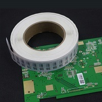 PCB Barcode Labels, High Temperature Labels, Polyimide PCB Label Stickers, High Temp PCB Label