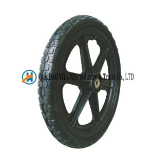 16*1.75 PU Foam Wheel for Balanced Cart Solid Wheel pictures & photos
