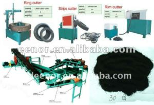Latest Technology Crumb Rubber Making Machinery / Waste Tire Recycling Equipment pictures & photos
