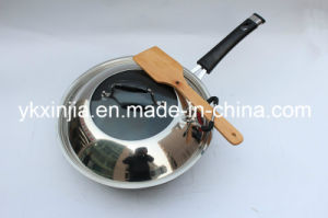 Kitchenware Aluminum Non-Stick Wok with Wooden Spatula Cookware pictures & photos