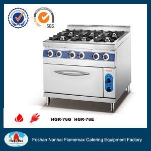 Stainless Steel 6-Burner Gas Range with Electric Baking Oven (HGR-96E) pictures & photos