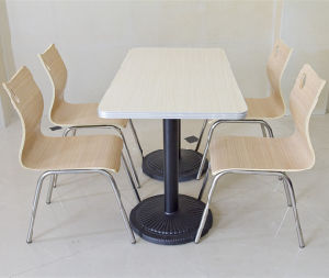 Stainless Steel Legs Dining Table and Chair