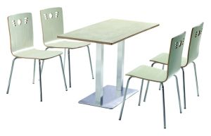 4 Seats Dining Table and Chair for Fast Food pictures & photos