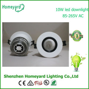 10W COB LED Downlight/75mm Cut-out Hole/Epistar Chip
