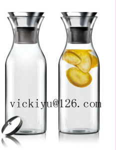 500ml Heat-Resisting Glass Water Bottle Coffee Glass Bottle with Lid