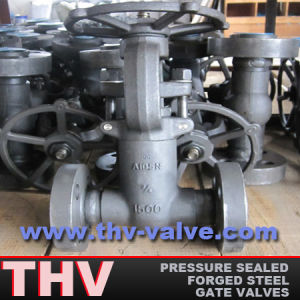 Flanged Type Pressure Sealed Forged Steel Gate Valve