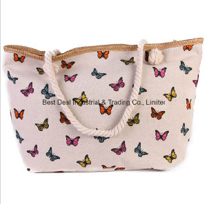 New Female Shoulder Bag Ladies Printing Large Canvas Beach Bag pictures & photos