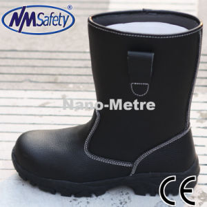 Nmsafety Cow Split High Cut Water Proof Safety Work Boots pictures & photos
