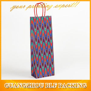 Wholesale Colorful Paper Wine Bags pictures & photos