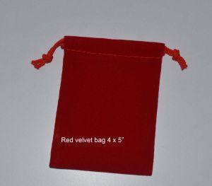 "2X3"" Red Velour / Velvet Gift Bag pictures & photos"