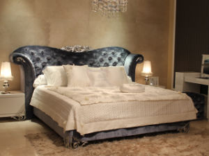 Antique Bedroom Fruniture Princess Bed Fabric Modern Bed (LS-411) pictures & photos