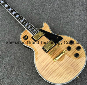 Lp Electric Guitar with Flame Maple Top Ebony Fretboard (GLP-201) pictures & photos
