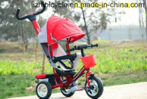 Hot Umbrella Baby Tricycle with Push pictures & photos