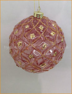 Red Glitter Christmas Glass Ball pictures & photos