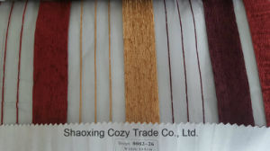 New Popular Project Stripe Organza Sheer Curtain Fabric 008226 pictures & photos