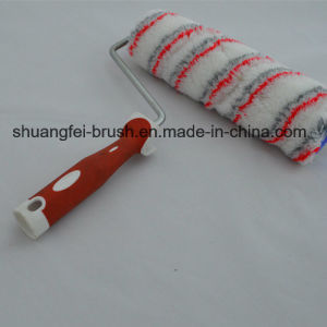 25cm Multicolor (Red & Grey) Acrylic Paint Roller with Soft Handle pictures & photos
