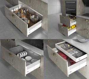 Kitchen Furniture Melamine Particle Board Ktichen Cabinet (zg-041) pictures & photos