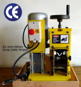 Cable Stripping Machine (CE 1.5kW/110V/60Hz, Cable Dia. 1.5-60mm, Patent No. 201120532050.6)