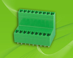 Pluggable Terminal Block with Dual Row Vertical Pin Header pictures & photos