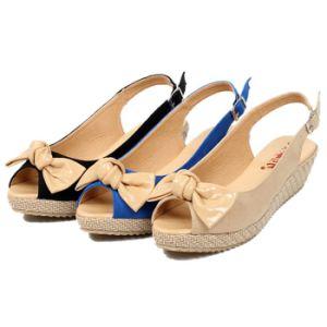 2014 Fashion Bowknot PU Ladies Platform Sandals Shoes (A155903590)