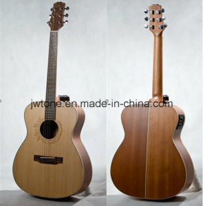 Solid Spruce Top Quality Acoustic Jumbo Guitar pictures & photos