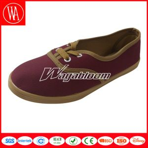 White Flat Comfort Canvas Women Casual Shoes pictures & photos