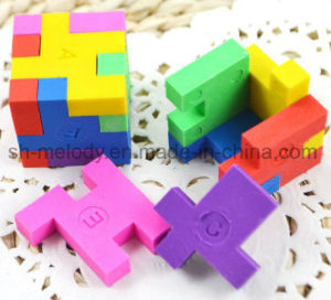 Cute 3D Magic Cube Puzzle Erasers/Rubber/Shape Eraser pictures & photos