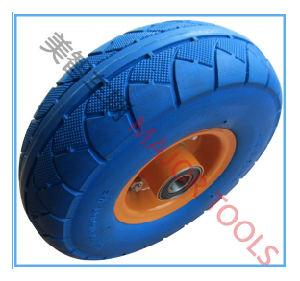 350-4 Flat Free PU Foam Wheel Tool Cart Wheel PU Foam Wheel pictures & photos