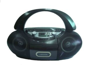 CD DVD Boombox with Am FM Radio, Cassette, USB SD/MMC