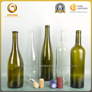 Empty 750ml Tapered Body Green Glass Wine Bottle (577) pictures & photos