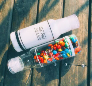 Portable Glass Cup Gift Cup Sport Milk Bottle pictures & photos