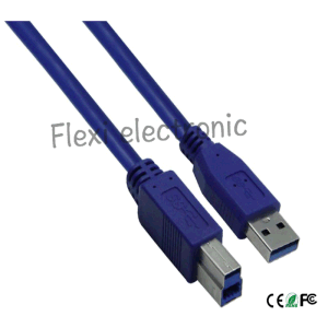 Clear Blue USB Cable 3.0 Am/Bm Cover for Printer pictures & photos