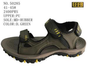 D. Gray Color PU Men Sandal pictures & photos