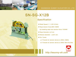 Speed Governor for Elevator (SN-SG-X12B) pictures & photos