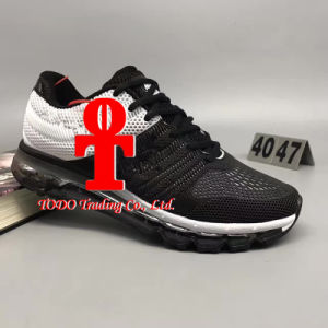 Wholesale New Air Cushion Shoes 2017 Kpu Running Shoes Flyline Air Cushion Men′s Sneakers 100% Original Cheap Walking Boots Sport Shoes pictures & photos