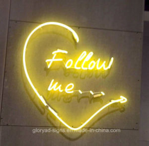Real Glass Neon Light Heart Shape Sign pictures & photos