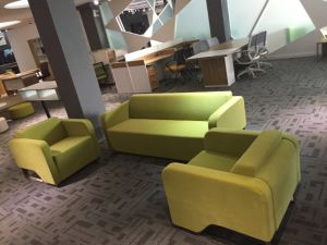 Fabric Minimalist Apple Green Cheap Vivid Recreational Sofa Set for Office Work pictures & photos