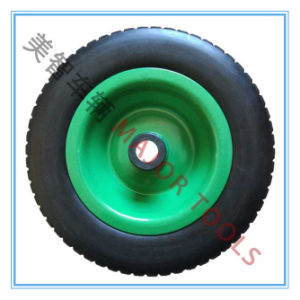 10X3.00-6 Offset Hub PU Foam Tyre Wagon Trolley Wheel pictures & photos