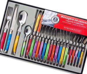 24PCS Color Plastic Handle Laguiole Tableware (SE-K326) pictures & photos