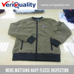 Men′s Mattawa Navy Fleece Jacket Inspection Service and Quality Control at Foshan, Guangdong pictures & photos