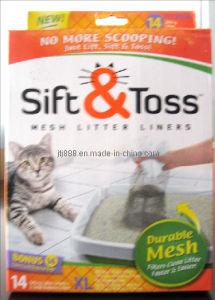 Cat Sift & Toss Litter Liners, Cat Sift N Toss Mesh Litter Liner Kitty Conveniently Litter Liner, Sift, Lift & Toss (TV613) pictures & photos