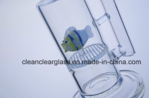 Wholesale Borosilicate Glass Water Pipe Smoking Pipe with Fish-Shaped Perc pictures & photos