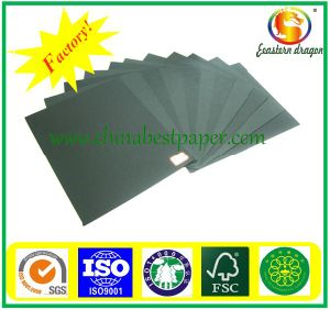 Uncoated 300g Black Cardboard Paper pictures & photos